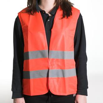 Orange warning jacket