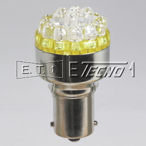 led bulb 12v ba15s 19 led orange in box
