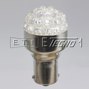 led bulb 12v ba15s 19 led white in box