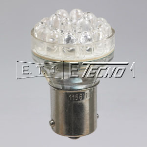 led bulb 12v ba15s 24 led white in box