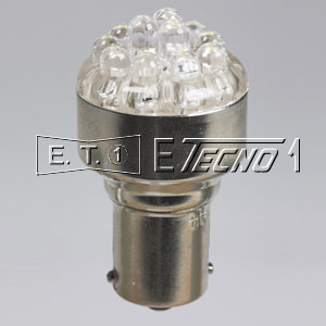 led bulb 24v ba15s 12 led white in box
