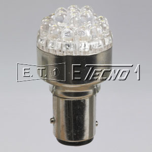 led bulb 24v bay15d 19 led white in box